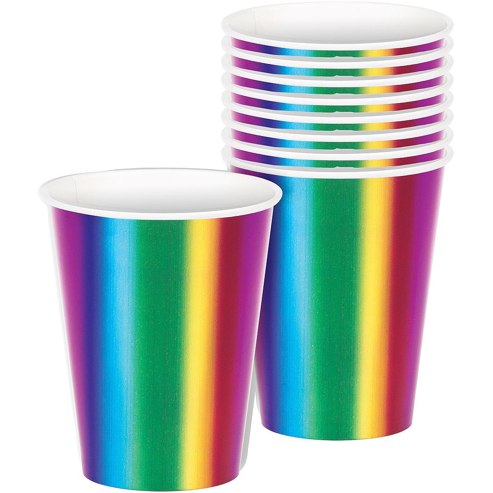 Metallic Rainbow Cups 8ct Image #1
