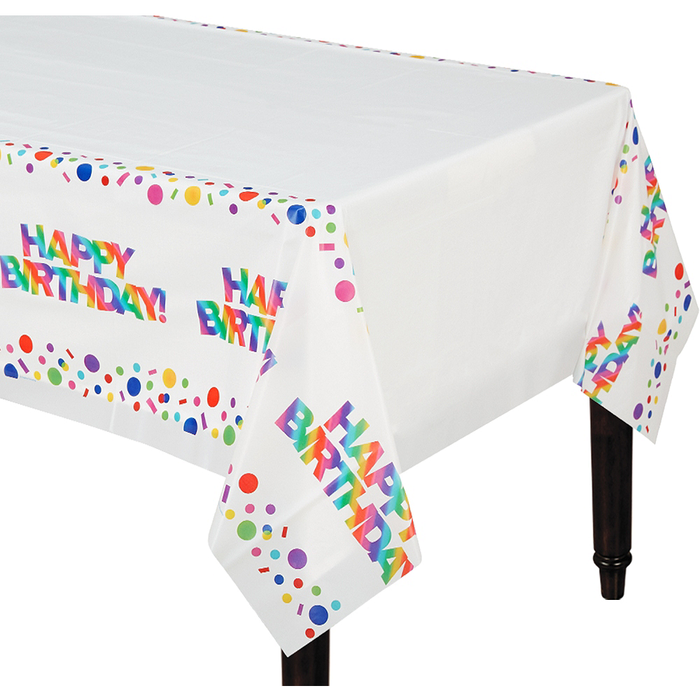 Nav Item for Rainbow Happy Birthday Table Cover Image #1