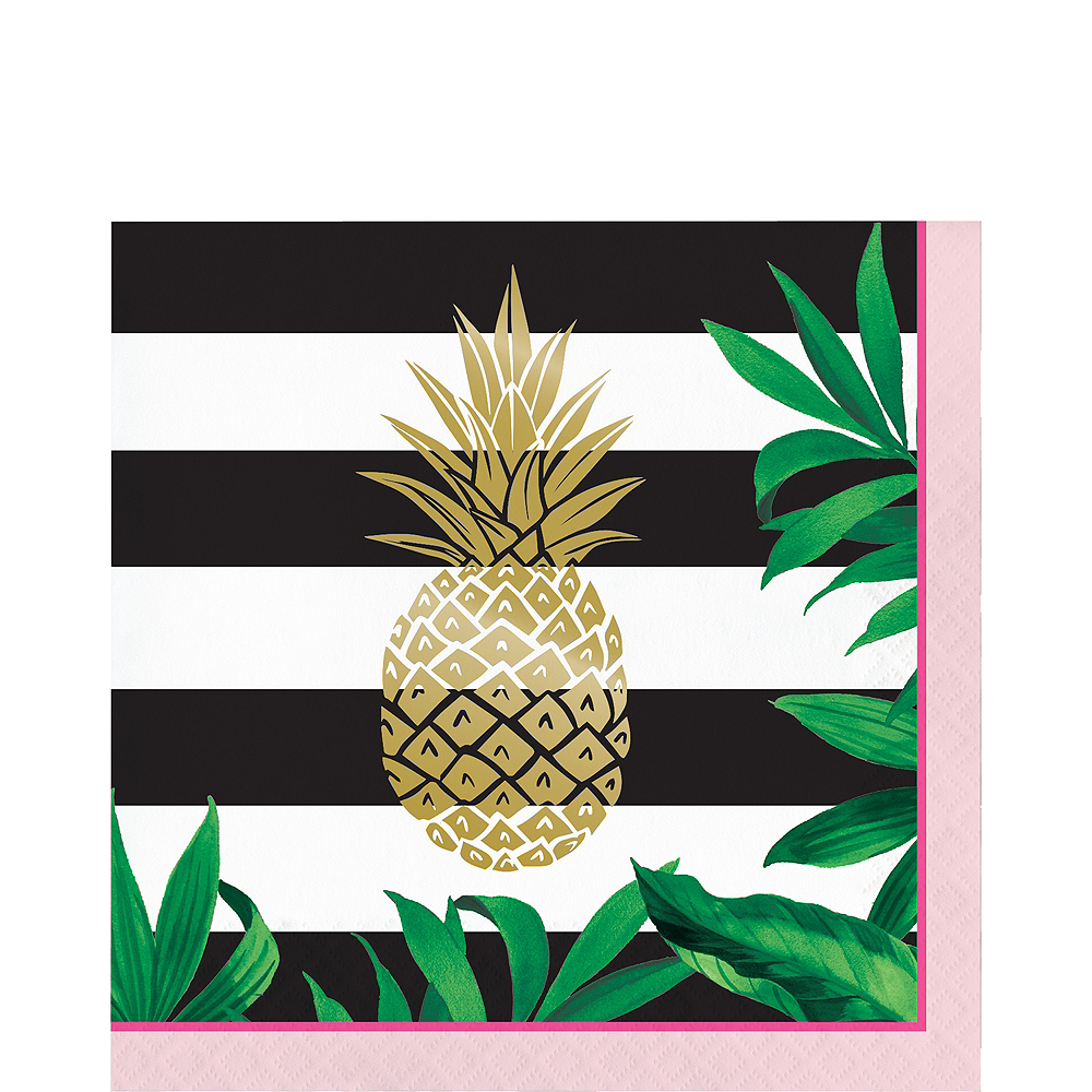 Metallic Gold Pineapple Lunch Napkins 16ct Image #1