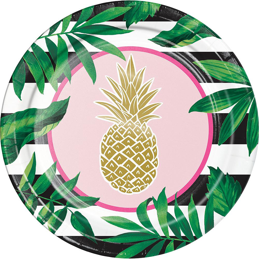 Metallic Gold Pineapple Dinner Plates 8ct Image #1