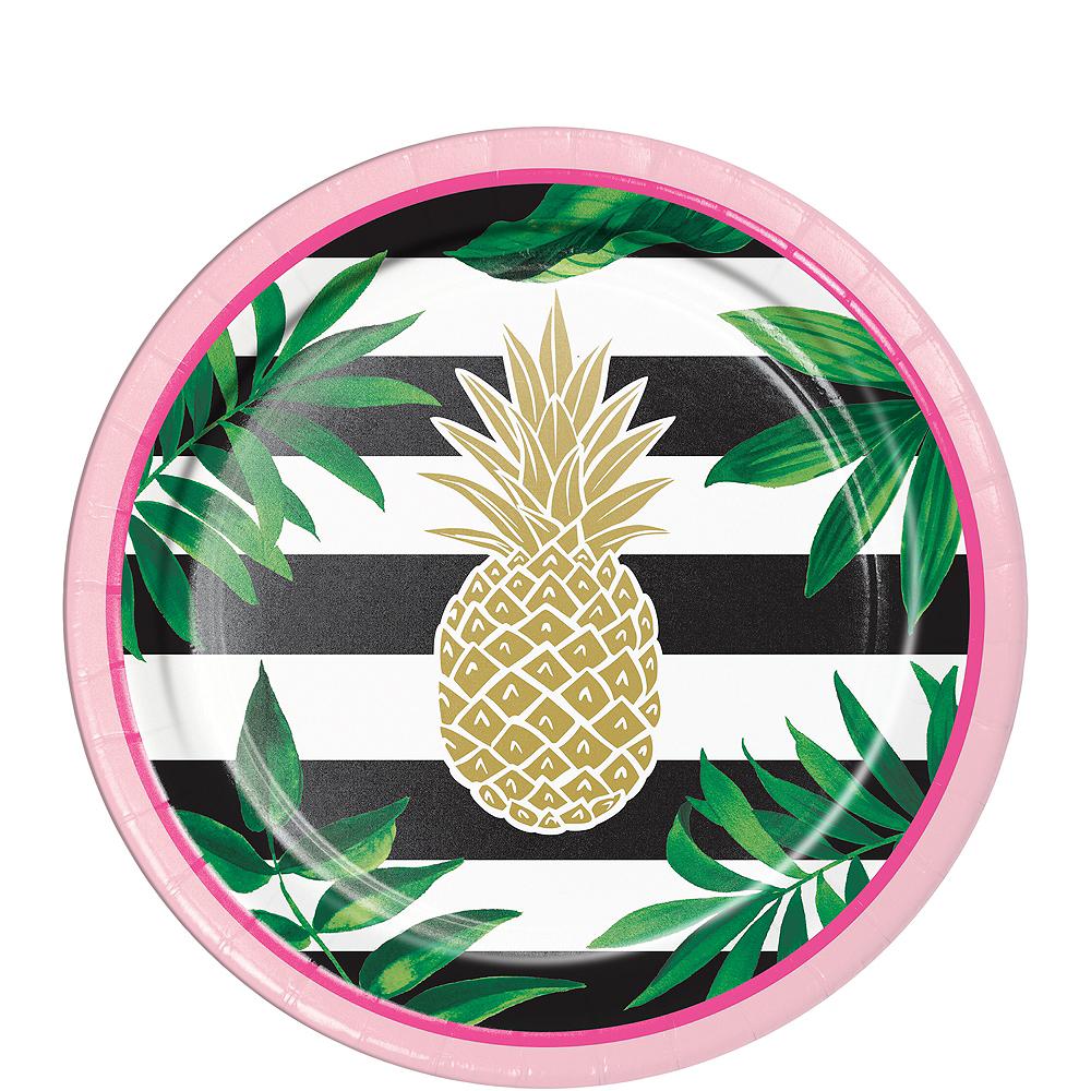 Metallic Gold Pineapple Dessert Plates 8ct Image #1