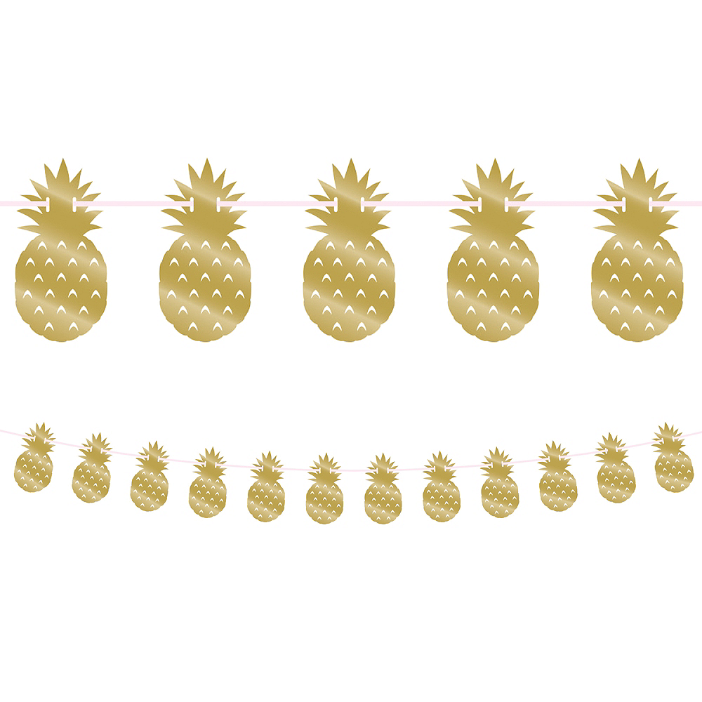 Metallic Gold Pineapple Banner Image #1