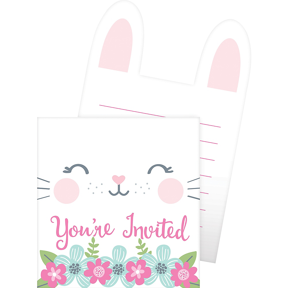 Some Bunny Popup Invitations 8ct Image #2