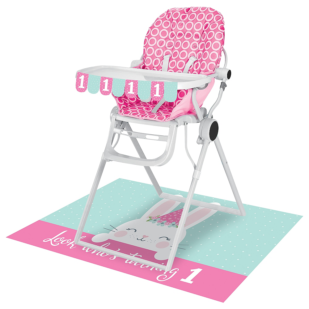 Some Bunny 1st Birthday High Chair Decorating Kit 2pc Image #1
