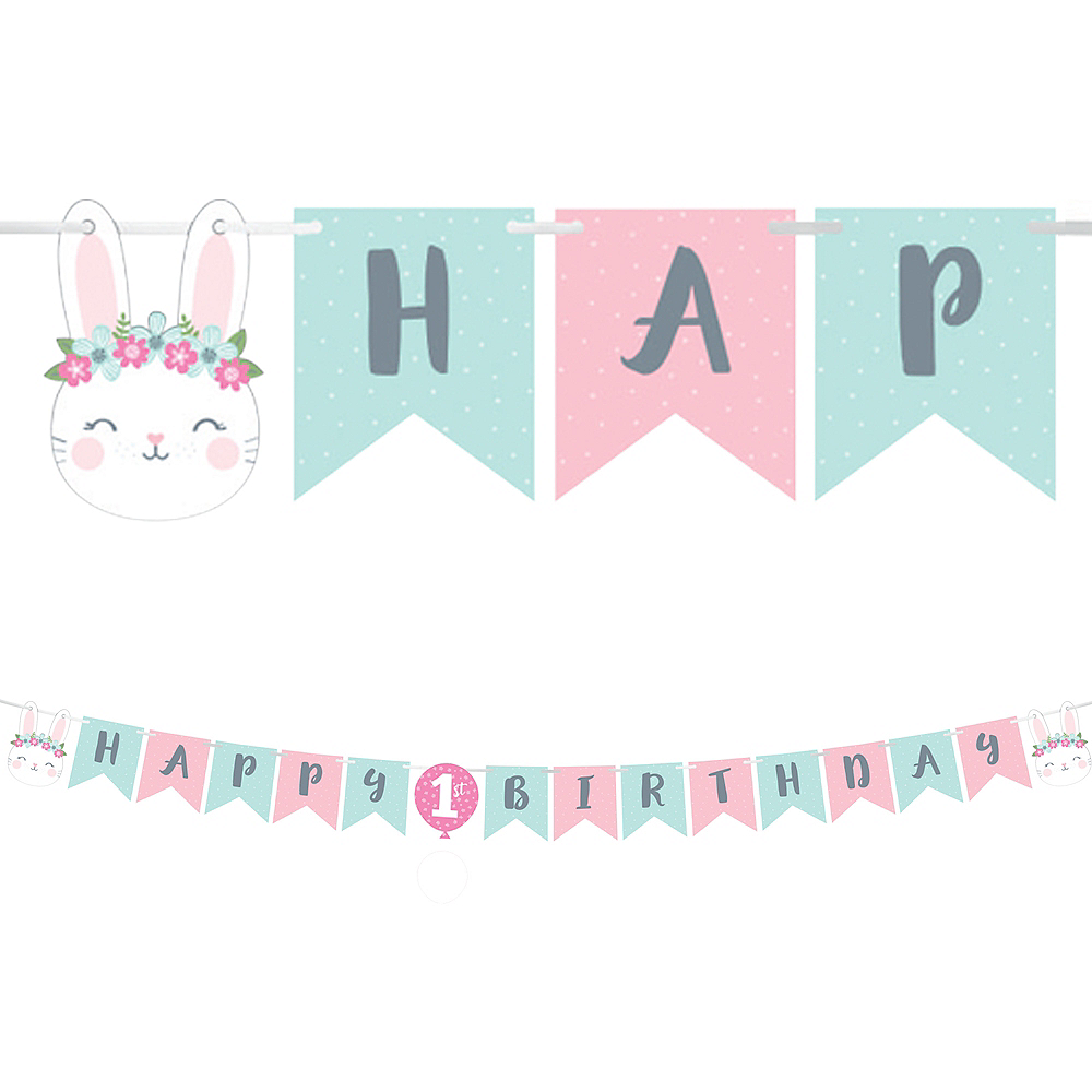 Nav Item for Some Bunny 1st Birthday Pennant Banner Image #1