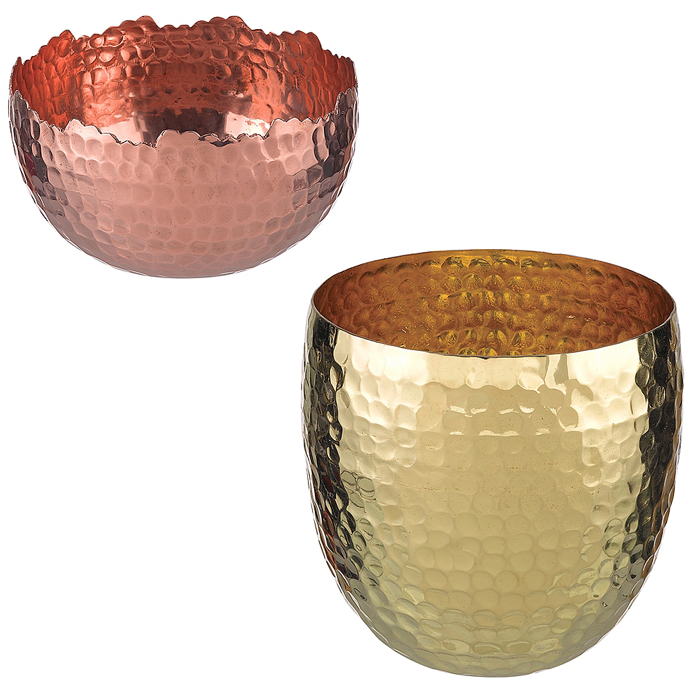 Hammered Bowls 4ct Image #1