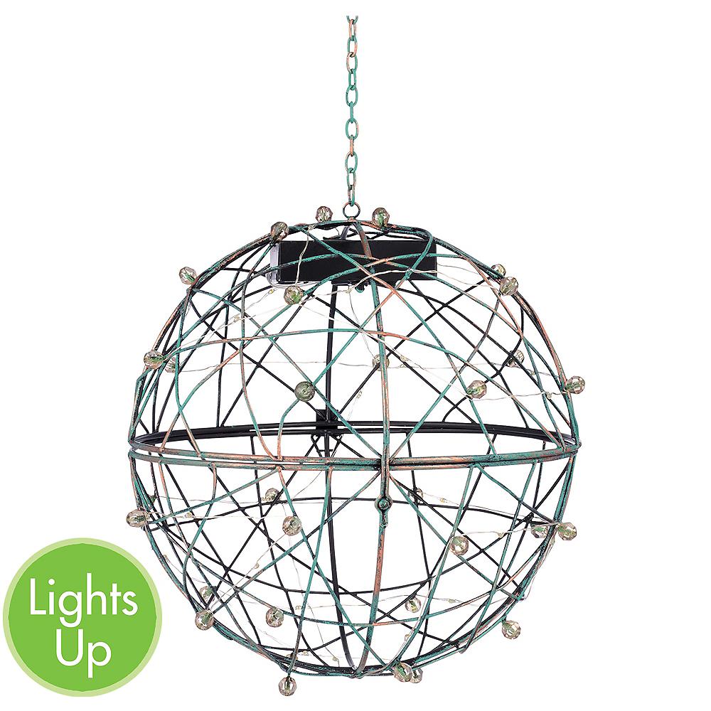 Light-Up Sphere Hanging Planter 4ct Image #1