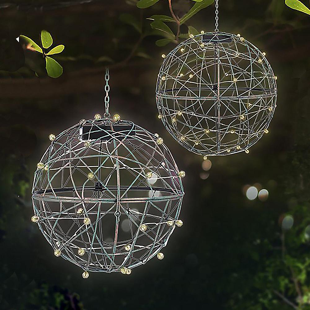Light-Up Sphere Hanging Planter 4ct Image #2