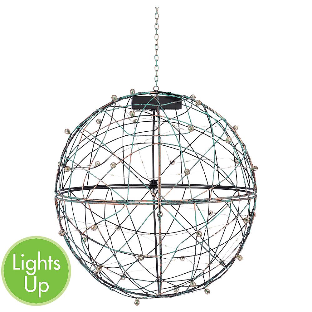 Large Light-Up Sphere Hanging Planter 4ct Image #1