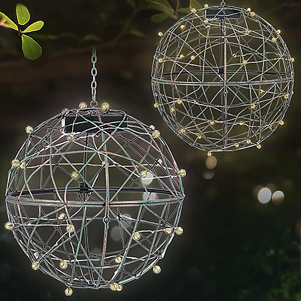 Large Light-Up Sphere Hanging Planter 4ct Image #2