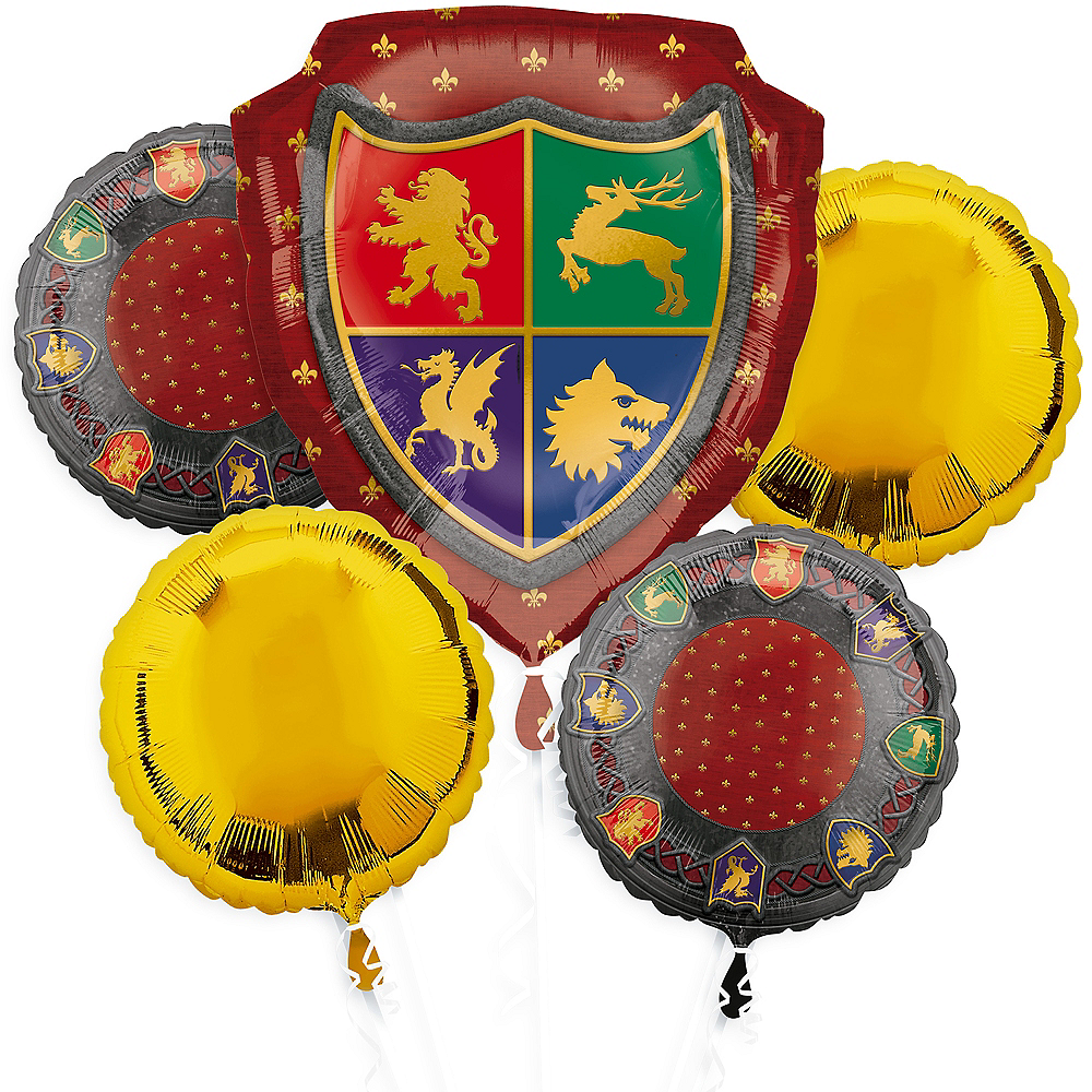 Medieval Balloon Bouquet 5pc Image #1