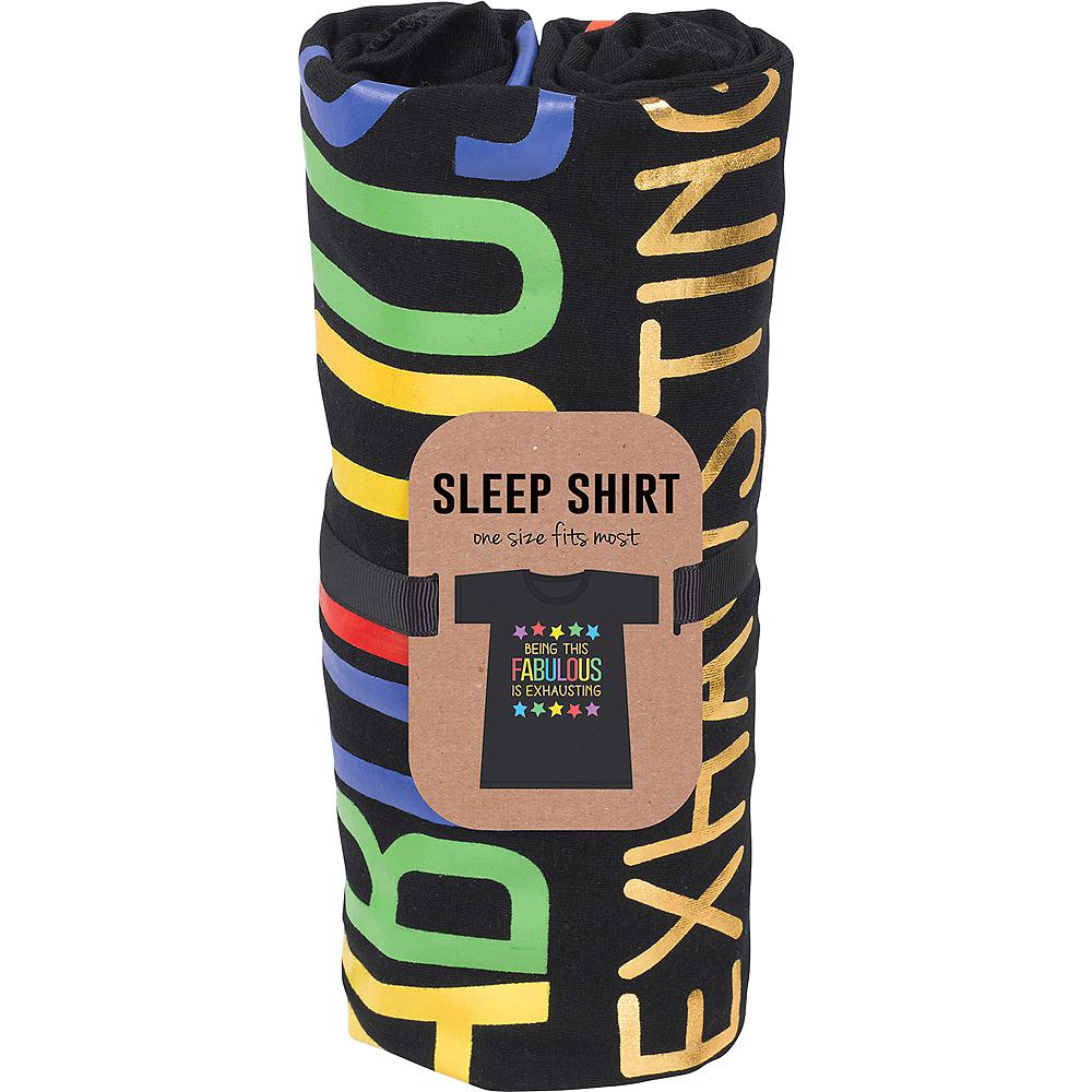 Adult Fabulous Rainbow Star Sleep Shirt Image #2