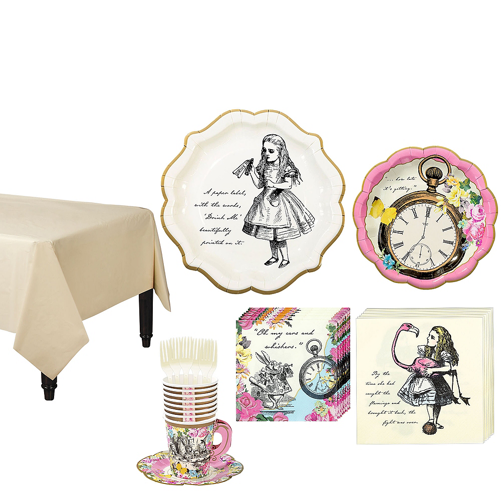 Alice in Wonderland Tableware Party Kit for 12 Guests Image #1