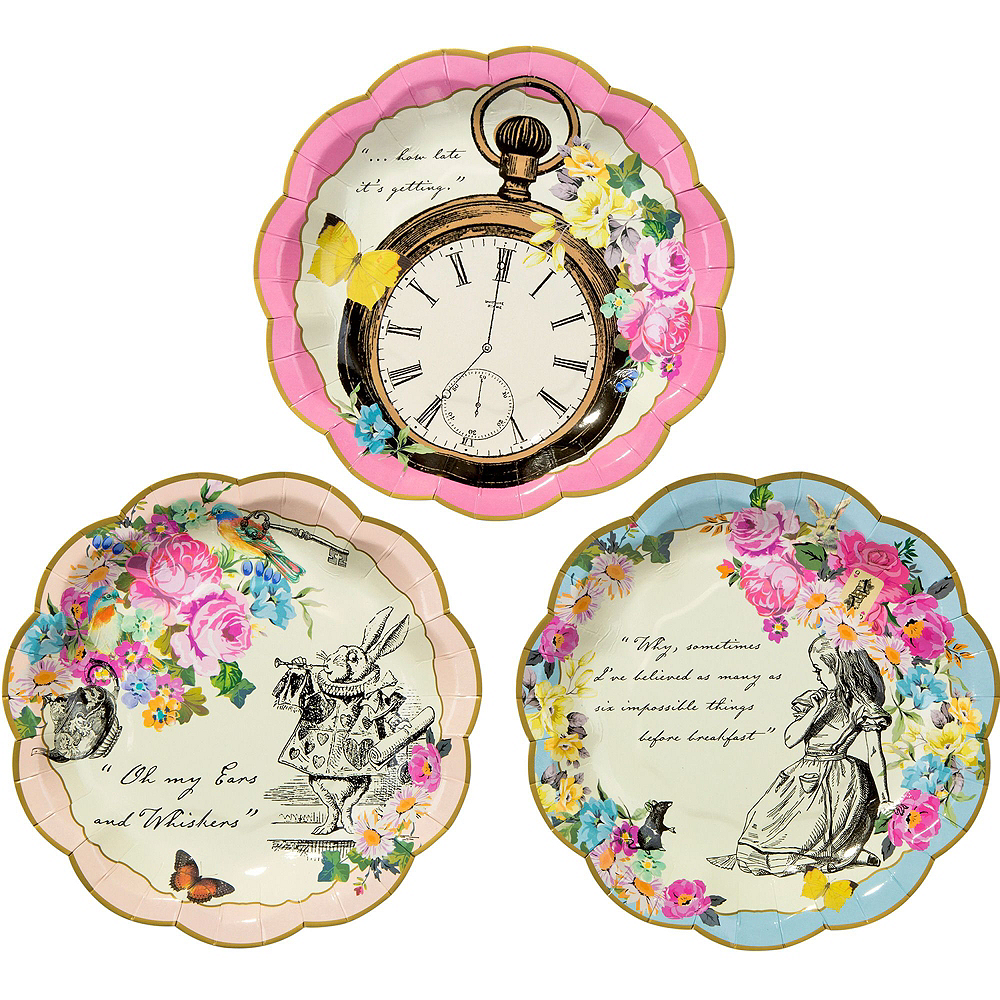 Alice in Wonderland Tableware Party Kit for 12 Guests Image #2