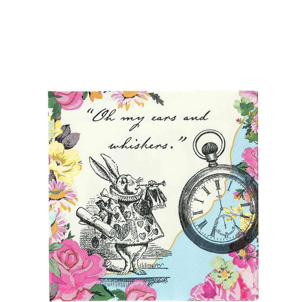 Alice in Wonderland Tableware Party Kit for 12 Guests Image #4