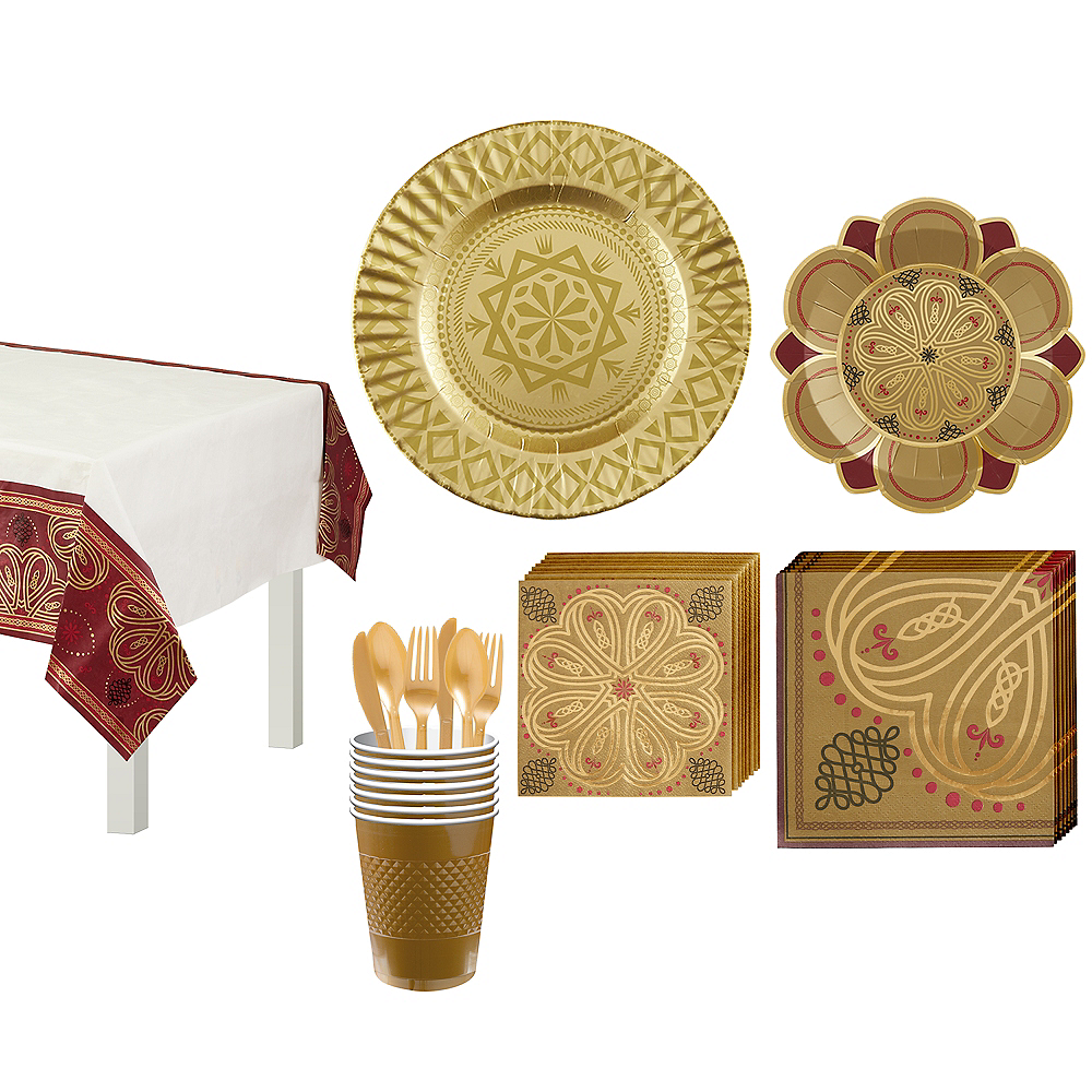 Renaissance Tableware Party Kit for 8 Guests Image #1