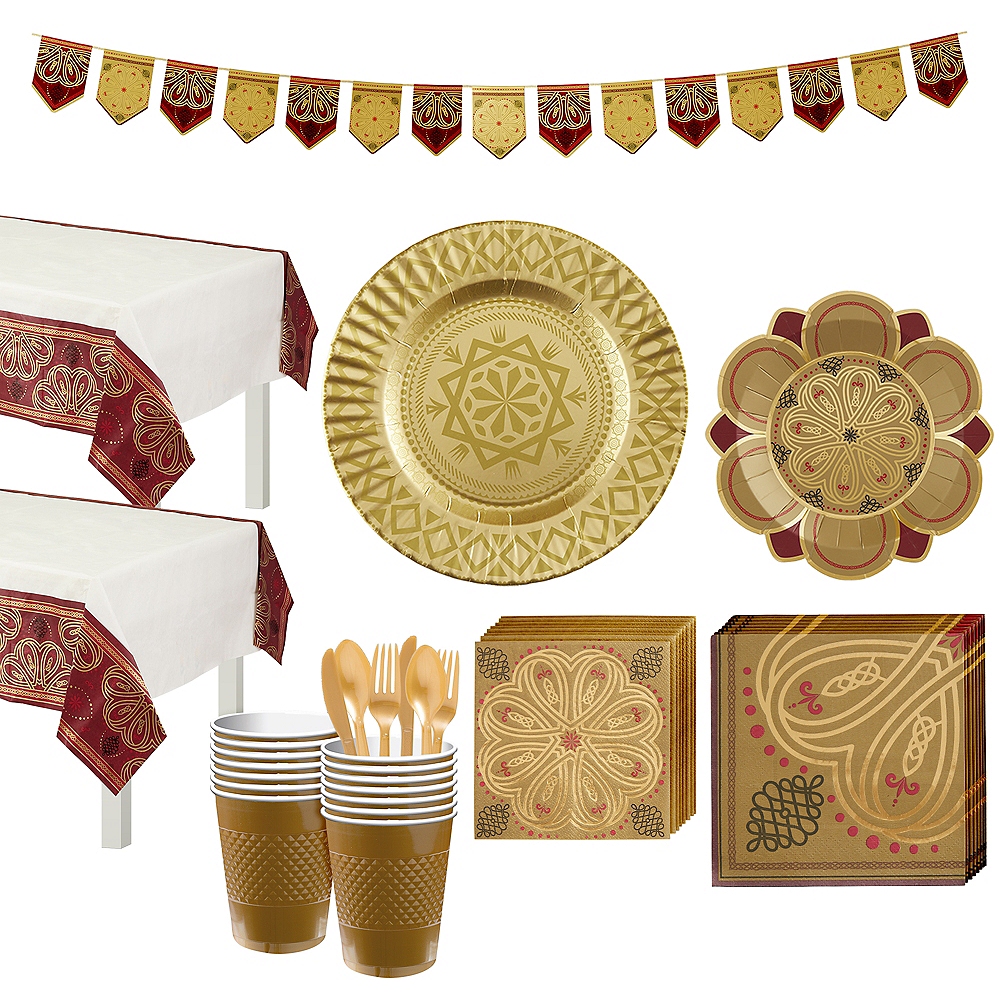 Nav Item for Renaissance Tableware Party Kit for 16 Guests Image #1