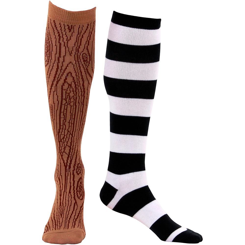 Adult Pirate Mismatched Knee-High Socks Image #2