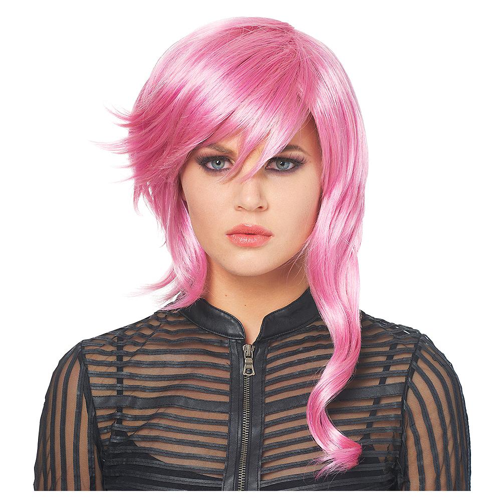 Lavender Asymmetrical Wig Image #1