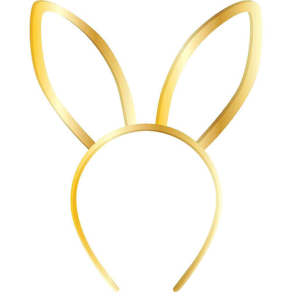 Gold Bunny Ear Headband Image #1