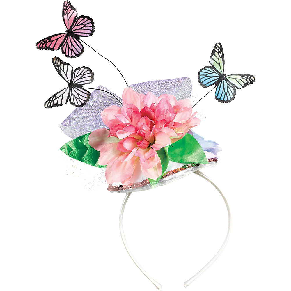 Colorful Butterfly & Flower Headband Image #1