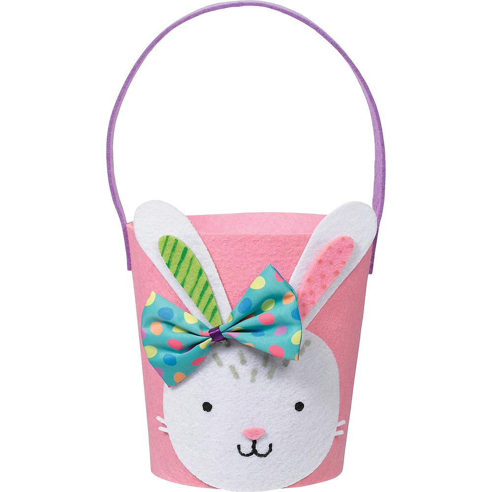 Pink Felt Easter Bunny Favor Bucket Image #1