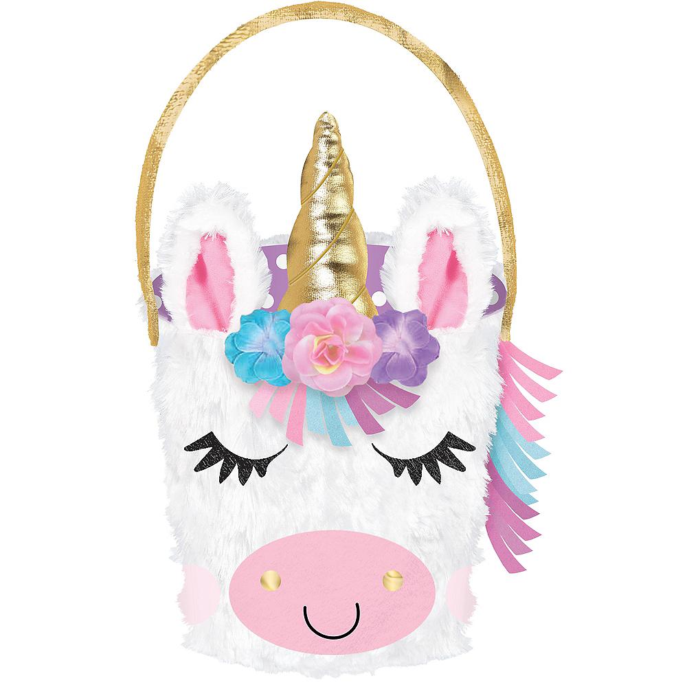 Plush Unicorn Easter Basket Image #1