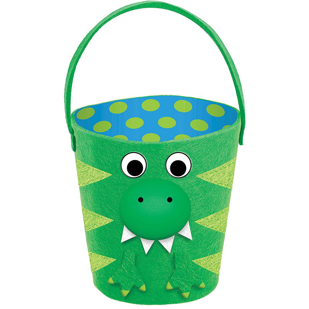 Plush Dinosaur Easter Basket Image #1