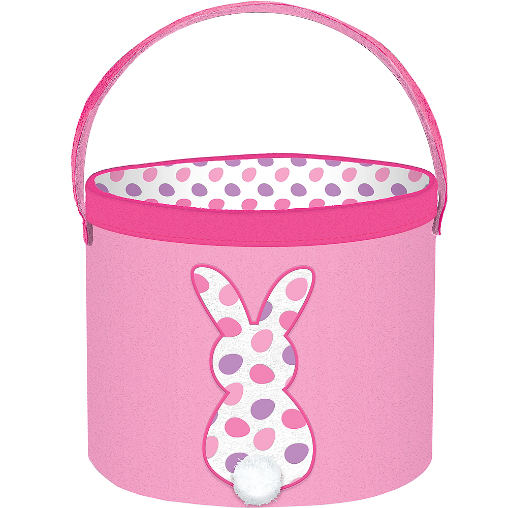 Canvas Pink Bunny Easter Bucket Image #1