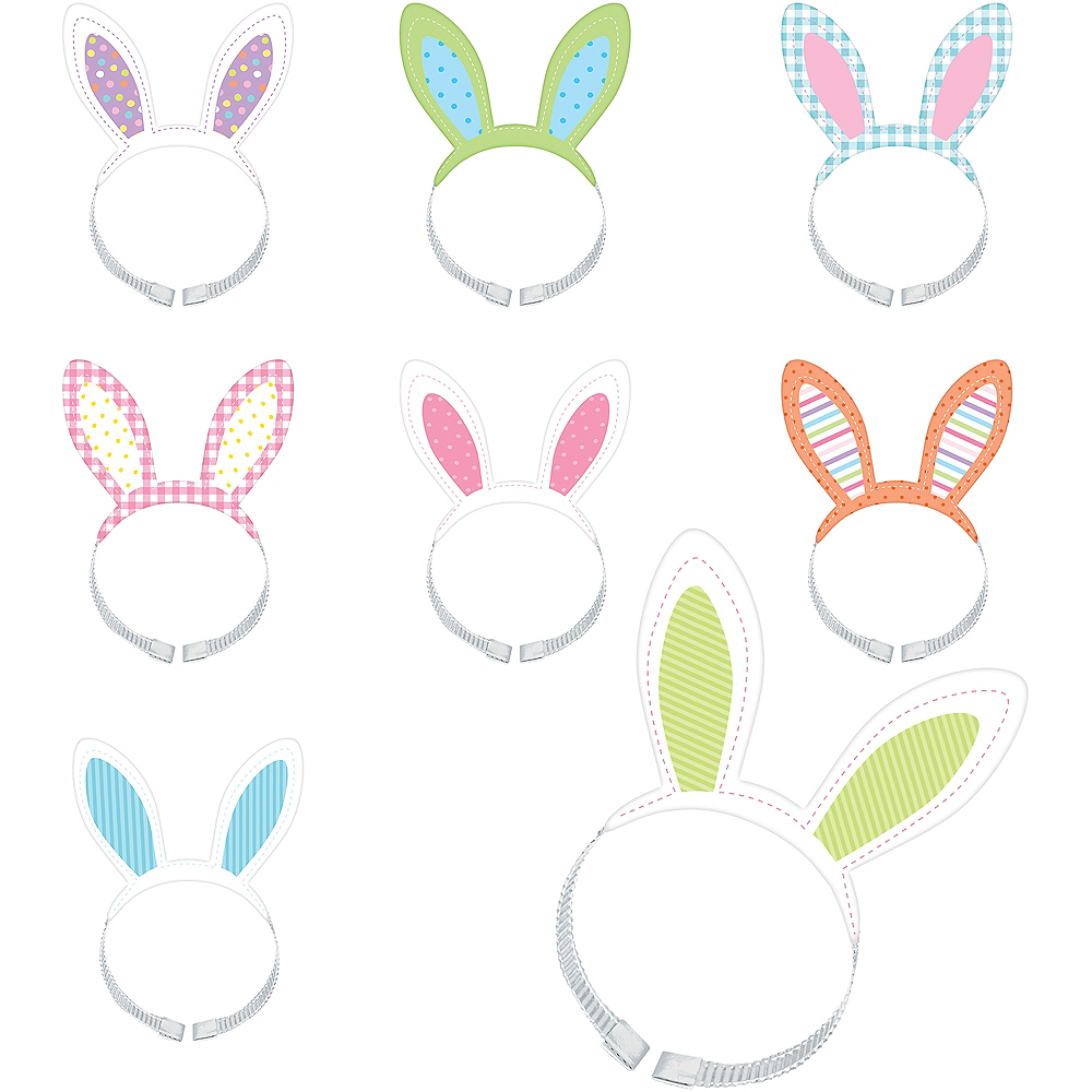 Easter Bunny Headbands 8ct Image #1
