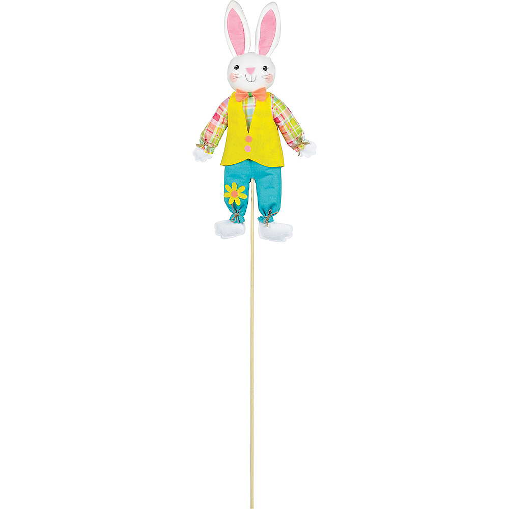 Friendly Easter Bunny Yard Stake Image #1
