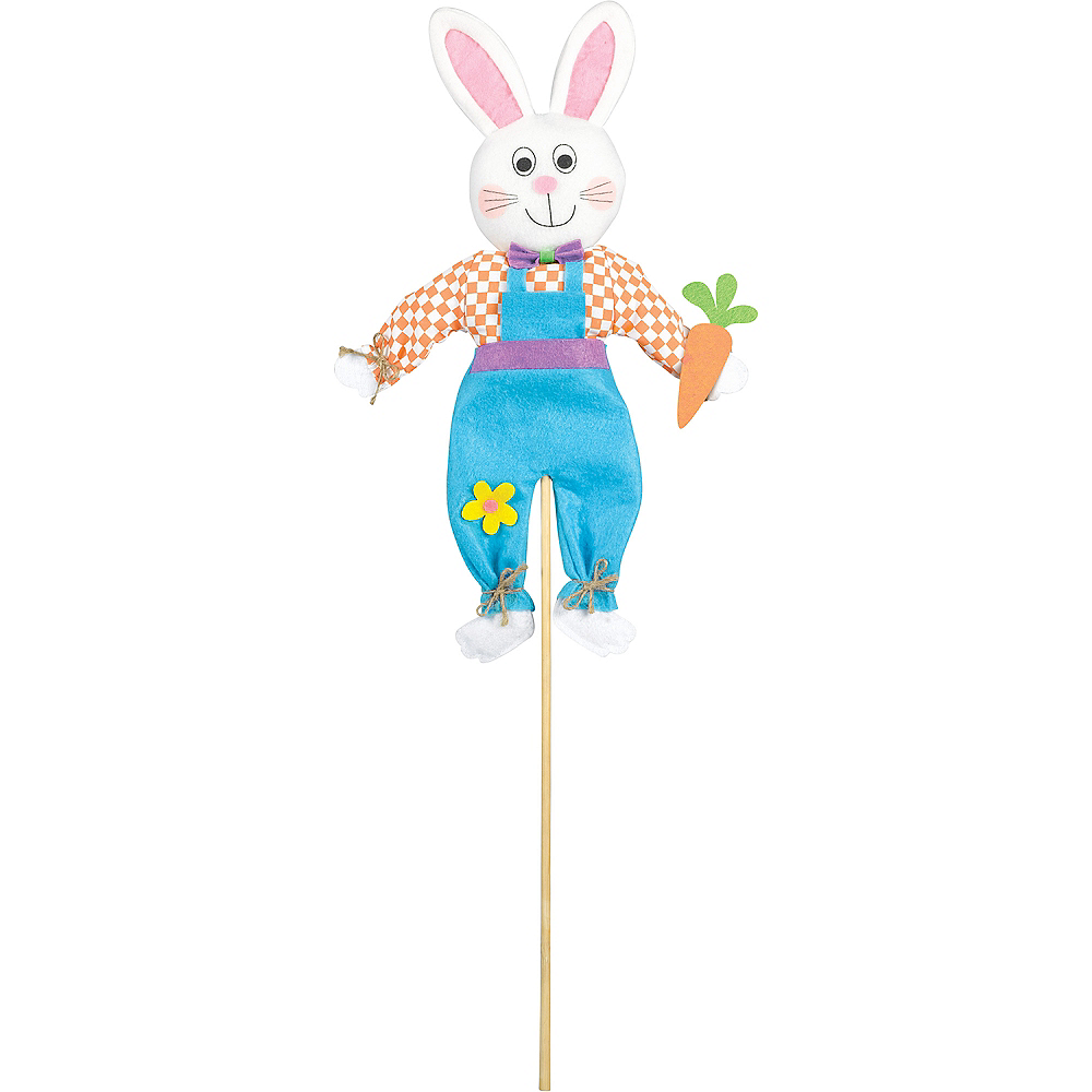 Mini Friendly Easter Bunny Yard Stake Image #1