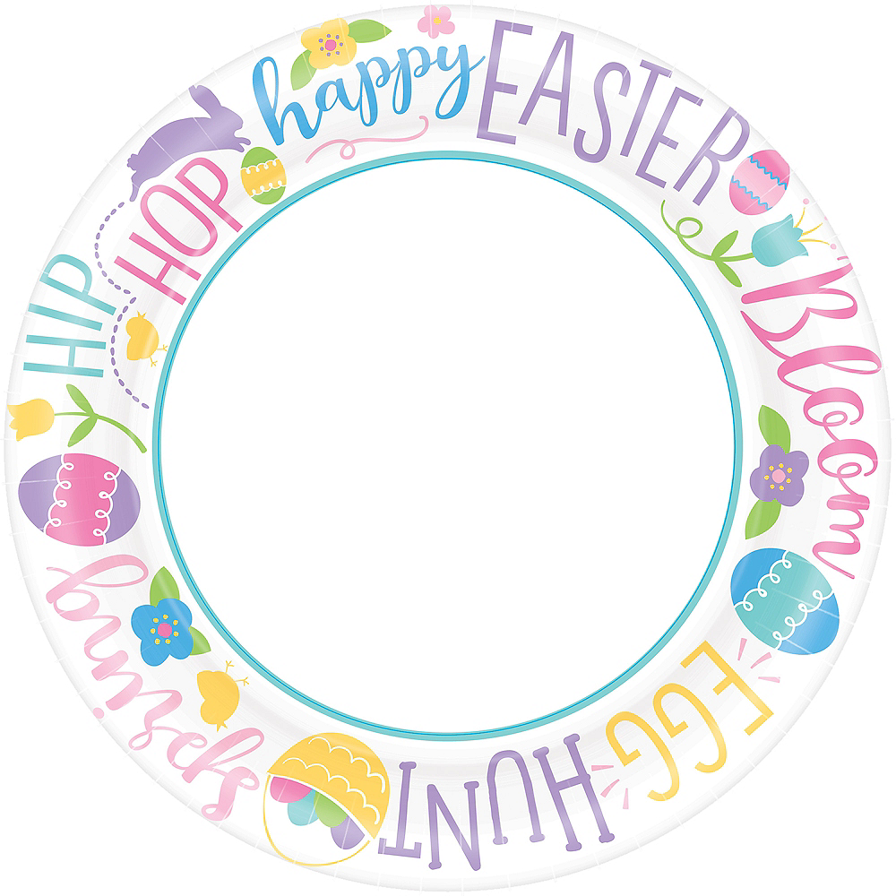 Hoppy Easter Dinner Plates 40ct Image #1