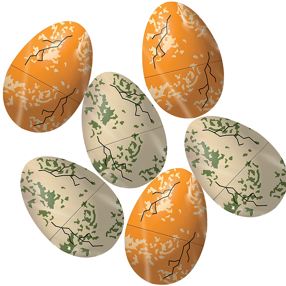 Dinosaur Fillable Easter Eggs 6ct Image #1