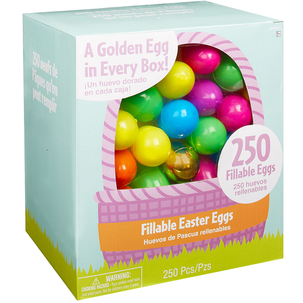 Multi-Colored Fillable Easter Eggs 250ct Image #1