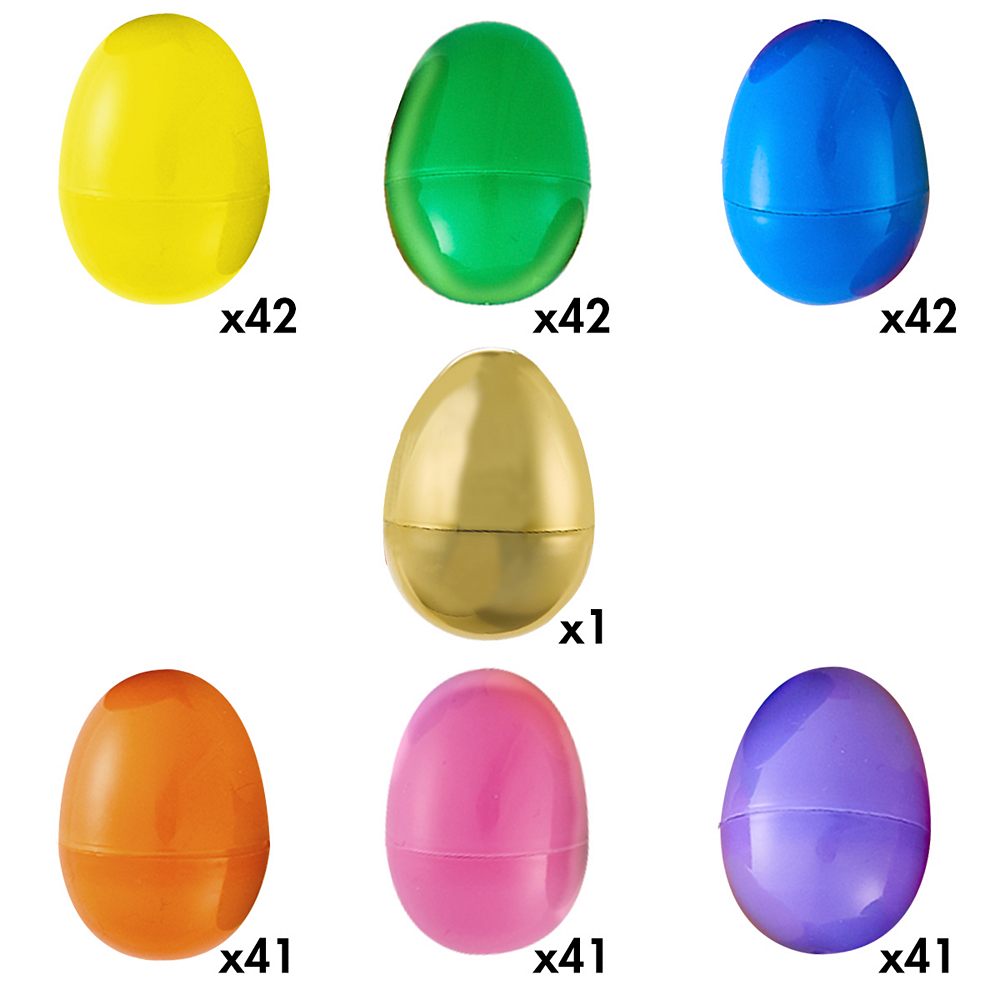 Multi-Colored Fillable Easter Eggs 250ct Image #5