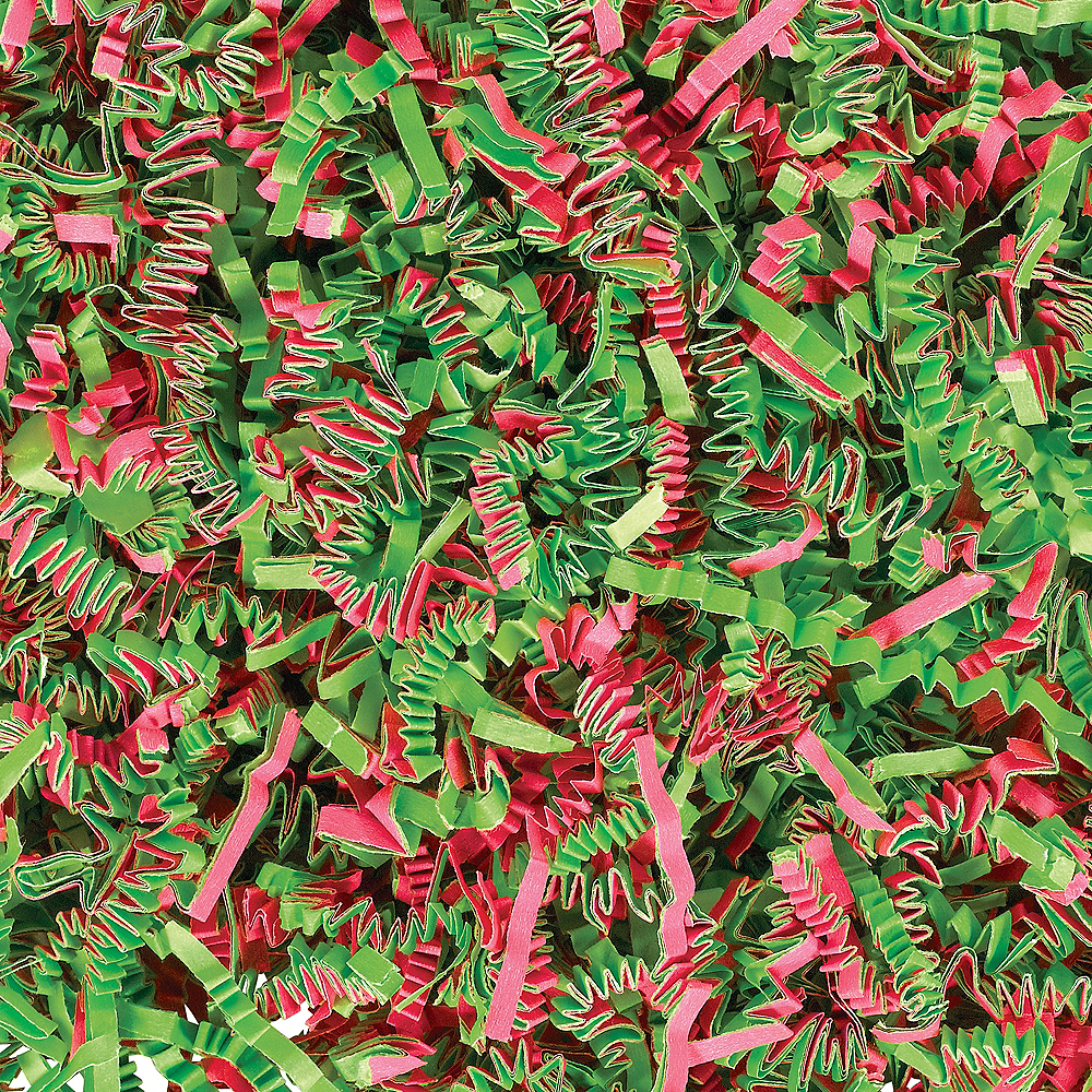 Green & Pink Paper Easter Grass Strips Image #1