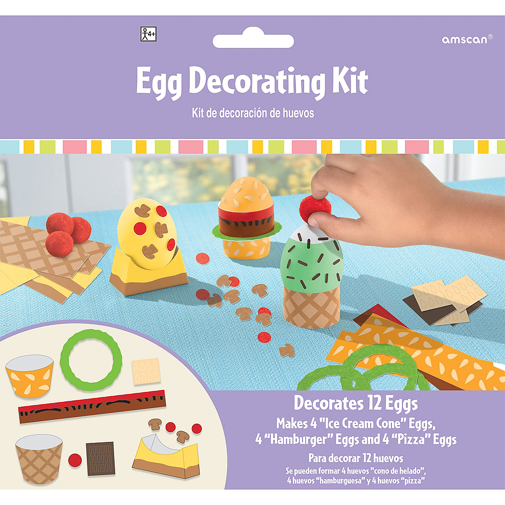 Food Easter Egg Decorating Kit 12ct