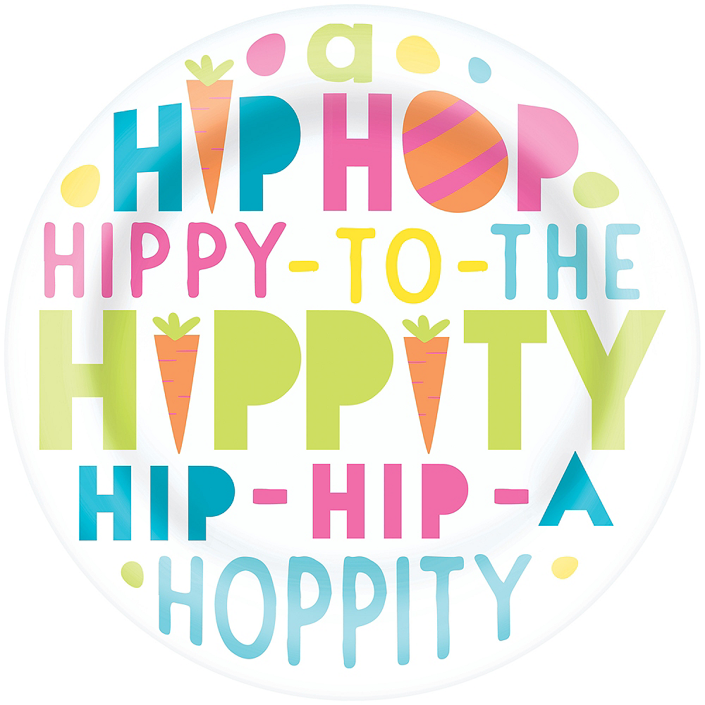 Hippity Hop Plastic Lunch Plate Image #1
