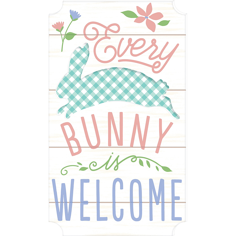Every Bunny Is Welcome Easel Sign Image #1