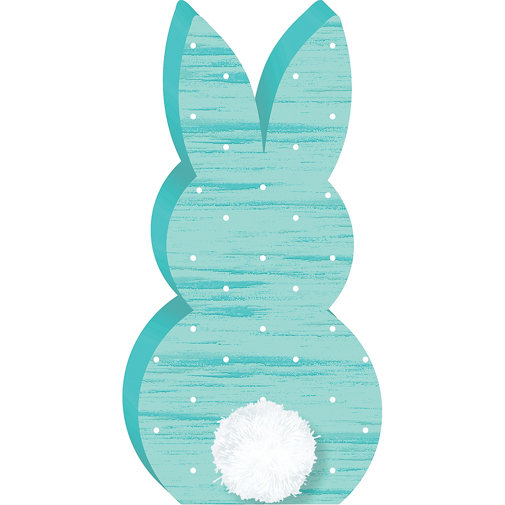 Blue Bunny Easter Sign Image #1