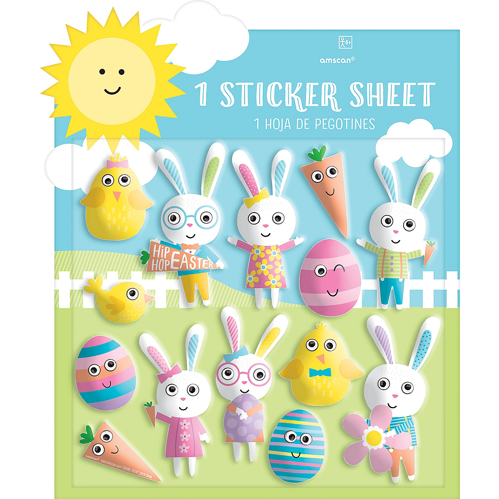 Easter Character Puffy Stickers 1 Sheet Image #1