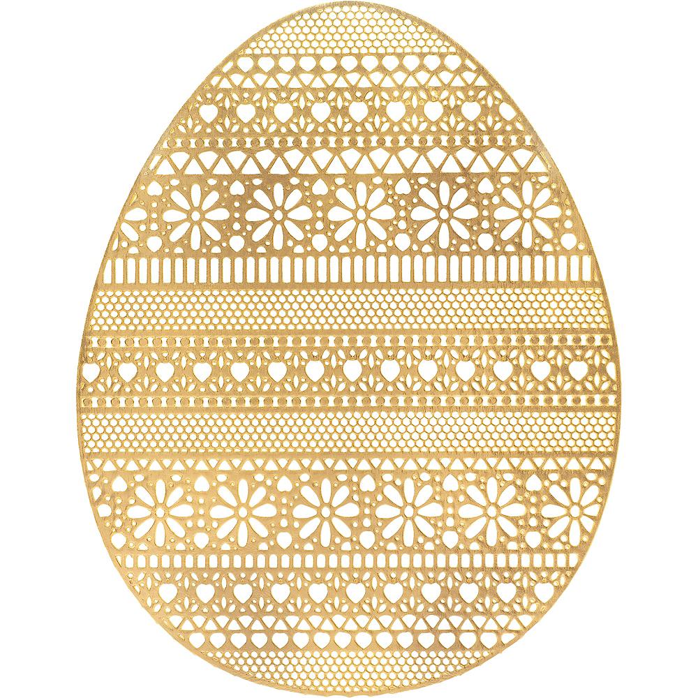 Metallic Gold Egg Placemat Image #1