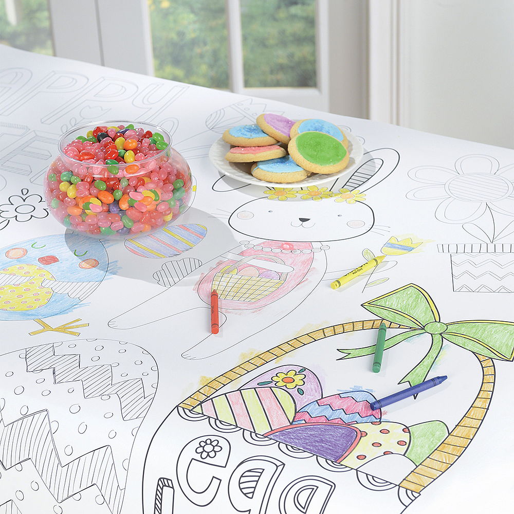 Coloring Easter Paper Table Cover Image #2