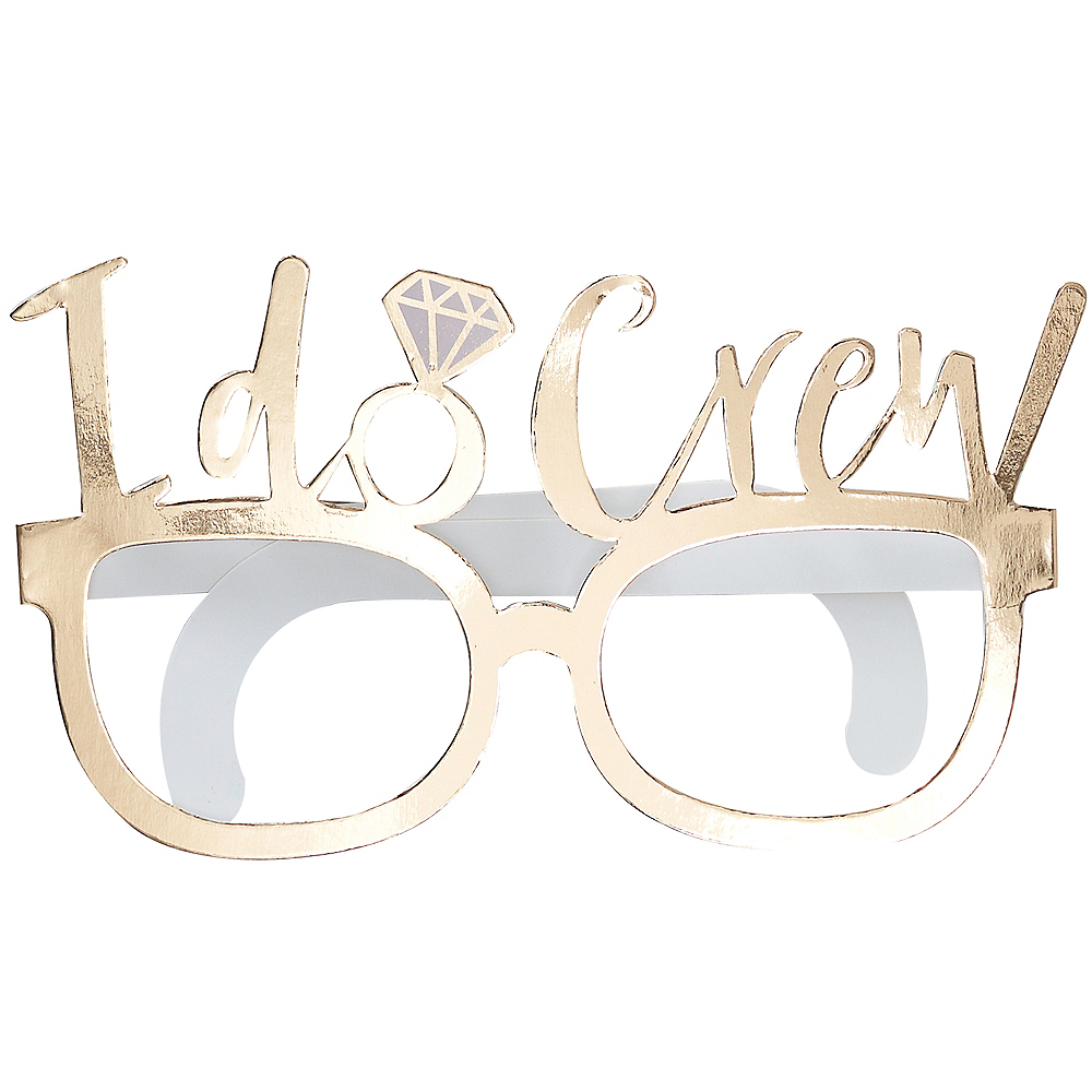 Ginger Ray Metallic Gold I Do Crew Glasses 8ct Image #2