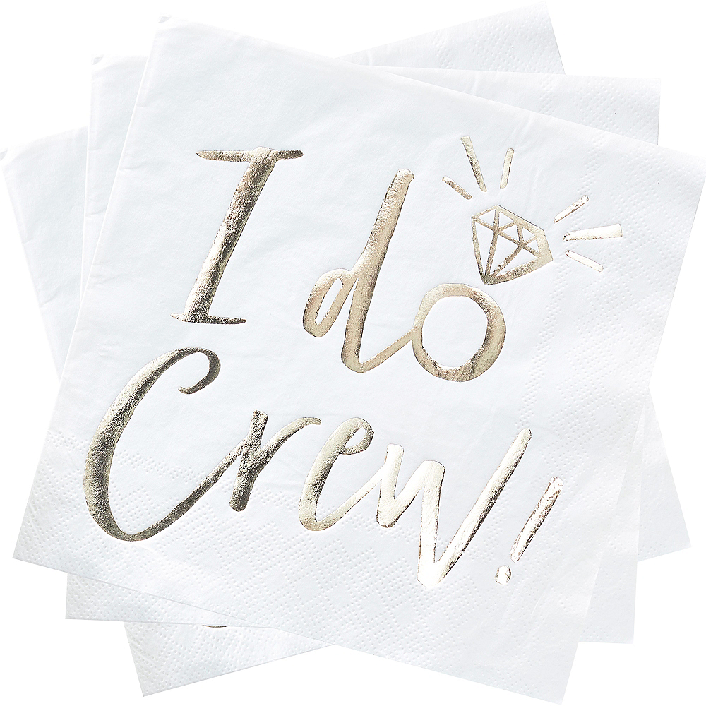 Ginger Ray Metallic Gold I Do Crew Lunch Napkins 16ct Image #2