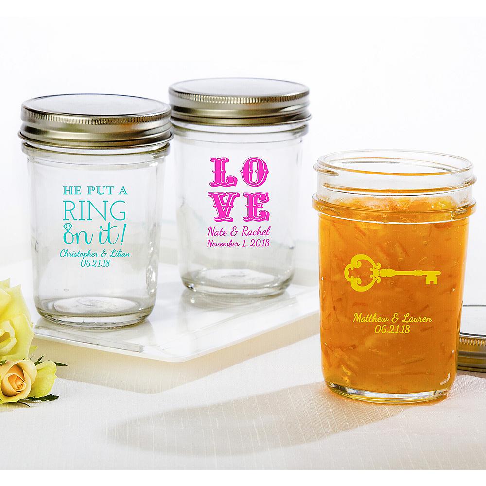 Personalized Wedding Mason Jars (Printed Glass) Image #1
