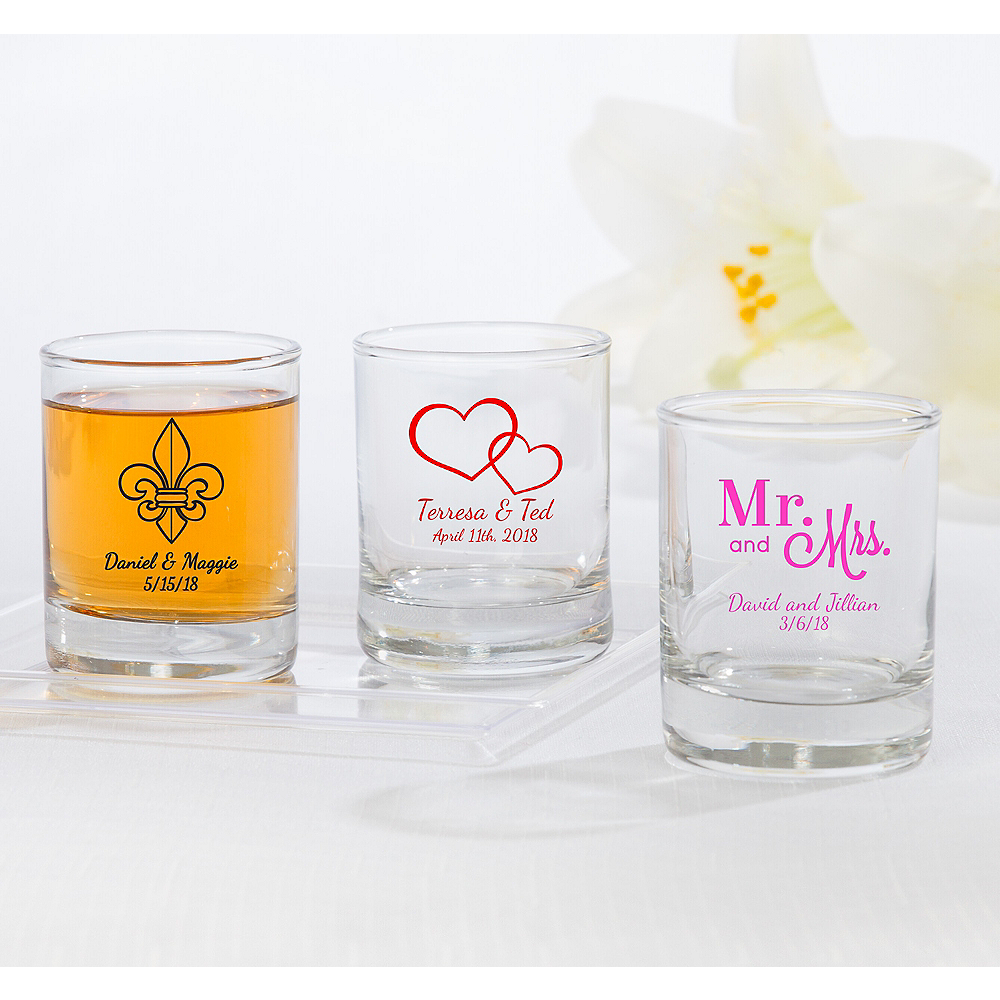 Personalized Wedding Shot Glasses (Printed Glass) Image #1