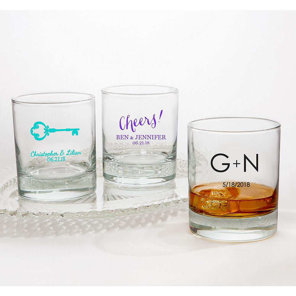 Personalized Wedding Rocks Glasses (Printed Glass) Image #1