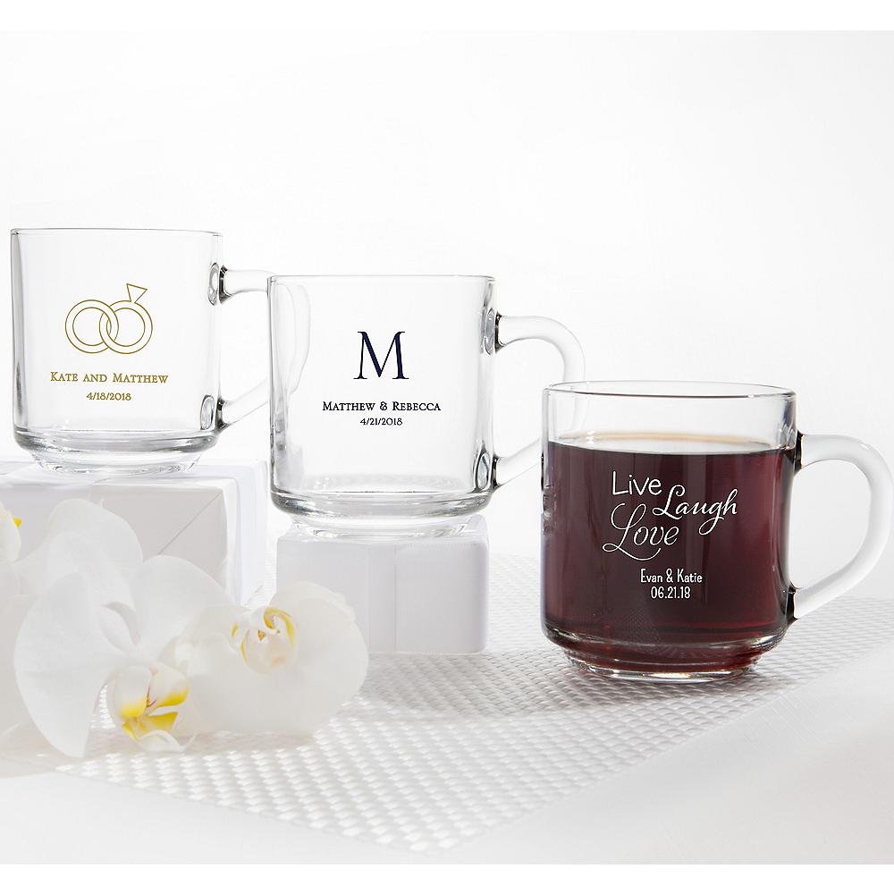 Personalized Wedding Glass Coffee Mugs (Printed Glass) Image #1